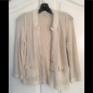 Banana Republic Cardigan Sweater Cream w/ Buttons